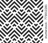 Stock vector seamless abstract geometric pattern stripes vector background black and white illustration 773012281