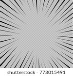set of isolated speed lines.... | Shutterstock .eps vector #773015491