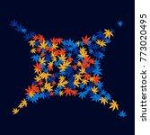 vector confetti background...   Shutterstock .eps vector #773020495