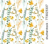 floral seamless pattern ... | Shutterstock . vector #773025337