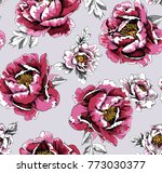 seamless pattern with image of... | Shutterstock .eps vector #773030377