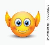 cute elf ears emoticon   emoji  ... | Shutterstock .eps vector #773030677