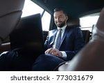 businessman working on his...   Shutterstock . vector #773031679