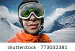 sports background. snowboarder... | Shutterstock . vector #773032381