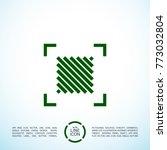 square minimal icon. vote line... | Shutterstock .eps vector #773032804