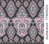 beautiful floral seamless...   Shutterstock .eps vector #773033251