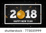 vector 2018 happy new year... | Shutterstock .eps vector #773035999