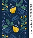 seamless vertical floral border ...   Shutterstock .eps vector #773038804