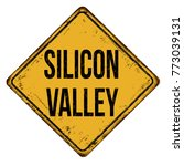silicon valley vintage rusty... | Shutterstock .eps vector #773039131
