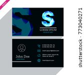 vector business card template...   Shutterstock .eps vector #773040271