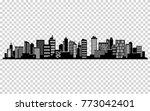 vector city silhouette.... | Shutterstock .eps vector #773042401