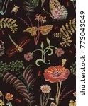 vector floral seamless pattern | Shutterstock .eps vector #773043049