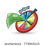 fortune wheel design | Shutterstock .eps vector #773043115