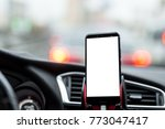 smartphone or gps device in a...   Shutterstock . vector #773047417