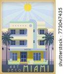 sunny day in miami  usa.... | Shutterstock .eps vector #773047435
