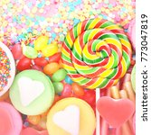 mix of confectionery and... | Shutterstock . vector #773047819