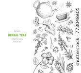 tea shop vector illustration....   Shutterstock .eps vector #773048605