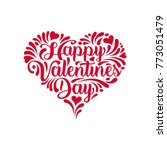 valentine's day card.... | Shutterstock .eps vector #773051479
