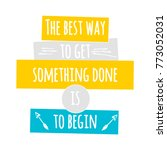 the best way to get something... | Shutterstock .eps vector #773052031