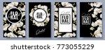 vector vertical banners set... | Shutterstock .eps vector #773055229