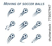 moving of soccer balls | Shutterstock .eps vector #773057947