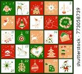 advent calendar. christmas... | Shutterstock .eps vector #773058739
