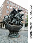 Small photo of NUREMBERG/GERMANY - OCTOBER 1, 2017: Ship of Fools sculpture based on Sebastian Brant's satire, a bestseller which first appeared in 1494