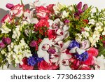 Composition Of Flowers From...
