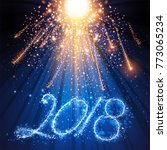 happy new year card  stage ...   Shutterstock .eps vector #773065234