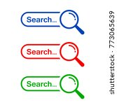 search bar icon  vector element ...