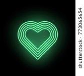 vector neon heart. neon... | Shutterstock .eps vector #773065654