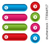 set of web buttons with arrows  ... | Shutterstock .eps vector #773066917