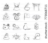 typical japan culture icons  ...   Shutterstock .eps vector #773068711