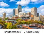 boston  massachusetts  usa city ... | Shutterstock . vector #773069209