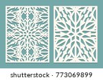 die and laser cut decorated... | Shutterstock .eps vector #773069899