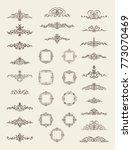 huge rosette wicker border... | Shutterstock . vector #773070469