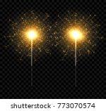 vector light sparkler...   Shutterstock .eps vector #773070574