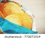 potato chip in the bag | Shutterstock . vector #773071519