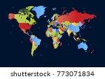 color world map vector | Shutterstock .eps vector #773071834