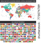 all flags of the world in... | Shutterstock . vector #773074789