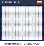 polish planner blank for 2018.... | Shutterstock . vector #773074939