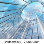 futuristic construction. modern ... | Shutterstock . vector #773080804