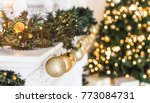 christmas tree background and... | Shutterstock . vector #773084731