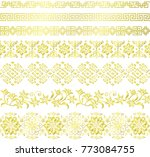 set of chinese decorative... | Shutterstock .eps vector #773084755