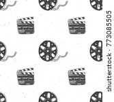 cinema tape  film reel and... | Shutterstock .eps vector #773085505