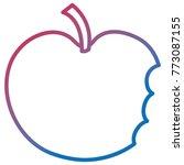 bitten apple fresh fruit icon   Shutterstock .eps vector #773087155