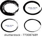 vector round frames. circle for ... | Shutterstock .eps vector #773087689