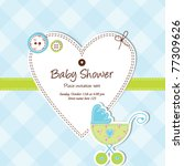 baby boy arrival card   baby... | Shutterstock .eps vector #77309626