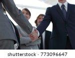 background image of handshake... | Shutterstock . vector #773096647