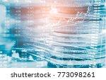 stock market or forex trading... | Shutterstock . vector #773098261